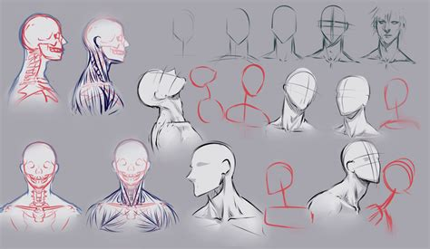 doodle draw drawing necks by moni158 on deviantart