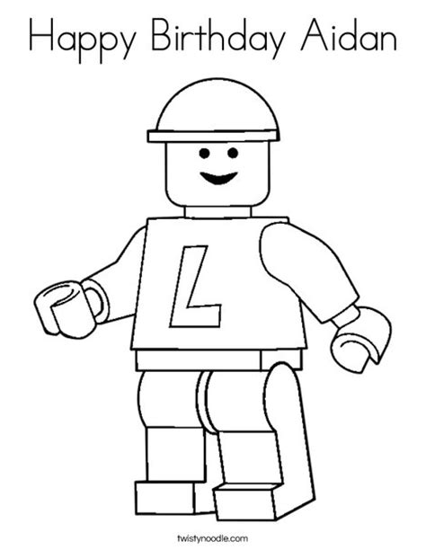 happy birthday lego coloring page happy birthday aidan coloring page twisty noodle
