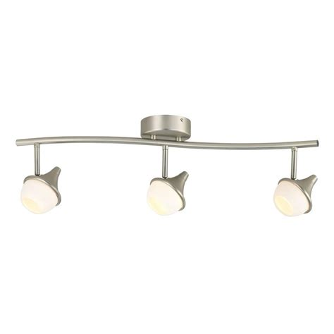 Hton Bay Lighting Fixtures Catalog Hton Bay 3 Light Led White Glass Shade Directional Track Lighting Fixture Dc4696ba The Home