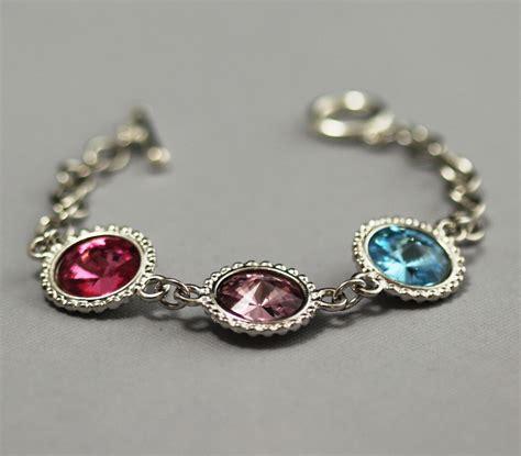 s bracelet birthstone bracelet silver swarovski