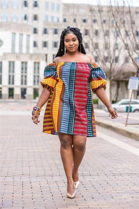 african  shoulder dress  shoulder ankara dress