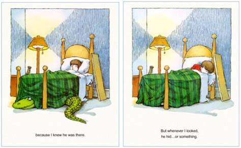 there s an alligator under my bed imagination interacts with text words and images in children s picture books by lynn