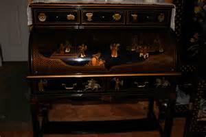 black lacquer roll top desk for sale antiques