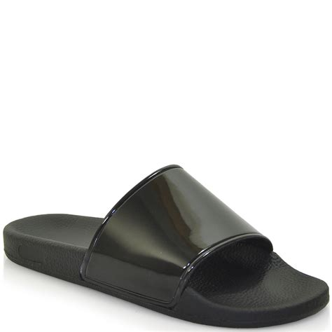 sixtyseven patent pool slides in black lyst