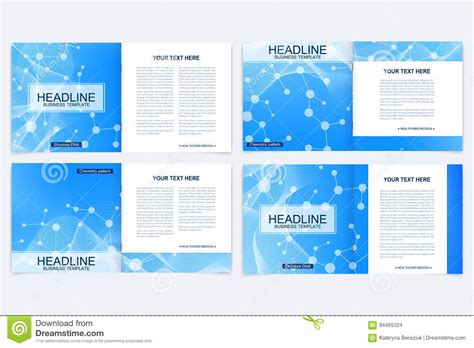 templates for square brochure leaflet cover presentation