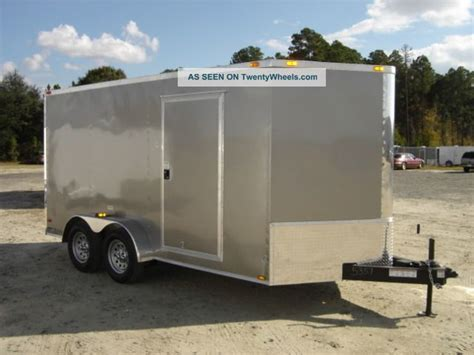 7x16 enclosed trailer cargo v nose tandem dual r