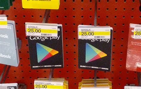 Where Can You Get Google Play Gift Cards - google play store gift cards already available and on display at some target stores