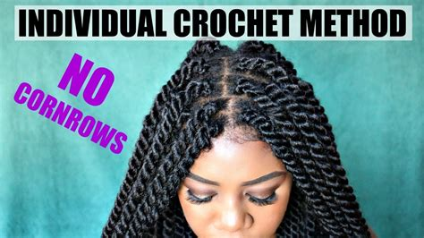 corn rolls under croshet hairstyle diy individual crochet havana twists no cornrows no