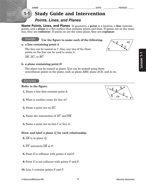 a study guide for glencoe geometry worksheet answers worksheets kristawiltbank free printable worksheets and