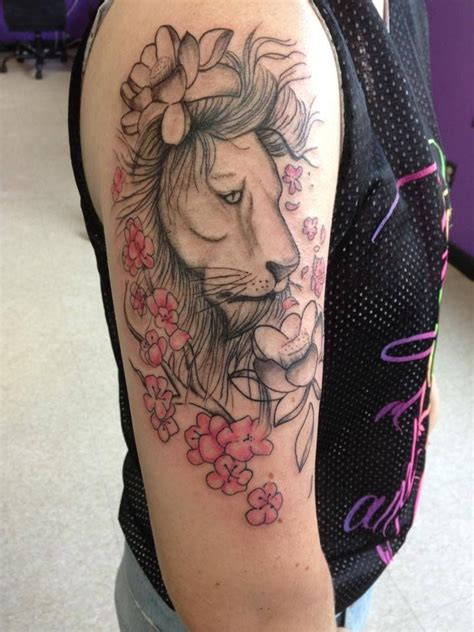 lion flower tattoo 1000 ideas about tribal on