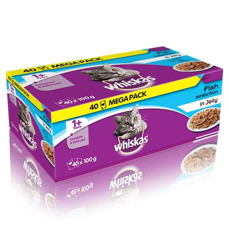 Catfood 2 4kg our products whiskas 174 1 fish selection in jelly 40 x