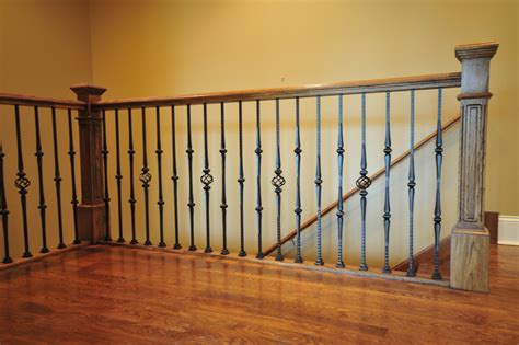 wrought iron banister spindles wrought iron spindles staircase traditional with none