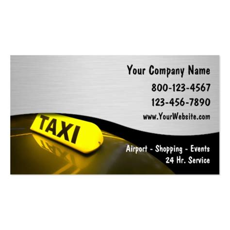 Business Card Template For Taxi Driver by Premium Taxi Business Card Templates