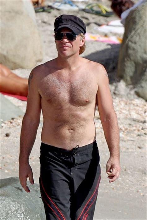 Shirtless Jon Bon Jovi Still At 45 by Jon Bon Jovi Photos Photos Jon Bon Jovi Goes Shirtless