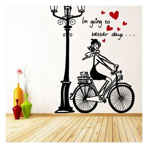 imagenes vintage para vinilos vinilos decorativos mujer rom 225 ntica bicicleta