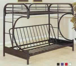 Metal Bunk Bed With Futon Metal Futon Bunk Bed Plans Design Ideas