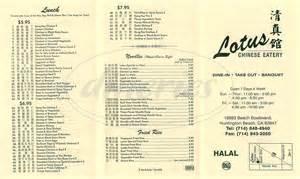 Lotus Menu Lotus Eatery Menu Huntington Dineries