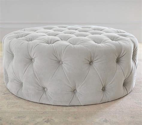 large white tufted ottoman 1000 ideas about ottoman on ottomans