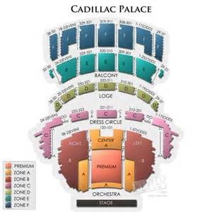 Cadillac Palace Theatre Seating Cadillac Palace Tickets Cadillac Palace Information
