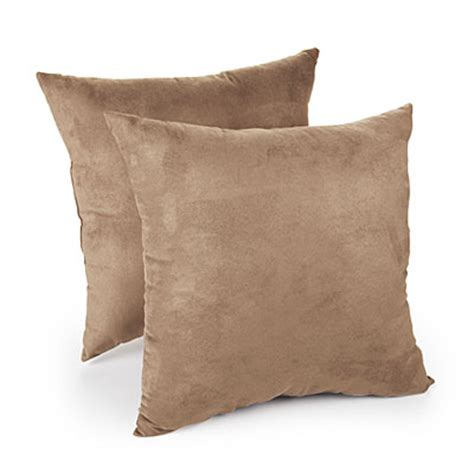 big lots sofa pillows faux suede tan decorative pillows 2 pack big lots