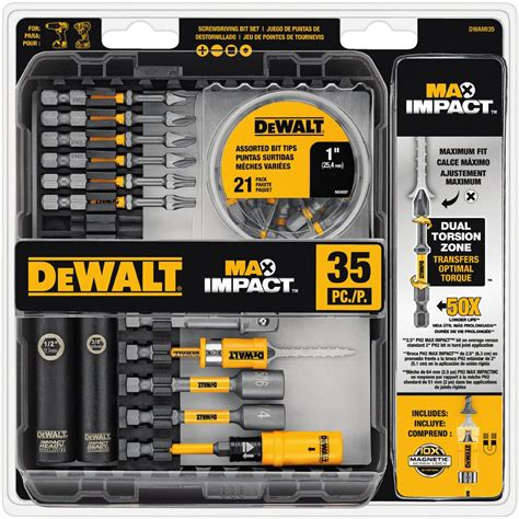 DEWALT MAX Impact Bit Set (35 Piece) DWAMI35   The Home Depot