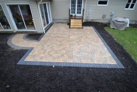 patio and walkway designs tumbled paver patio and walkway with contrasting border