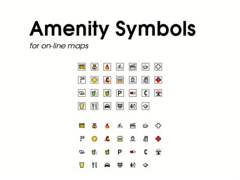 what are amenities amenity symbols by techtoucian on deviantart