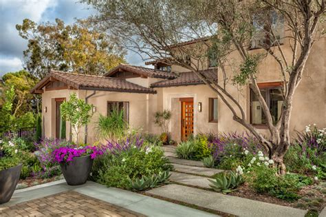 mediterranean style landscaping a progressive mission style casa in san juan