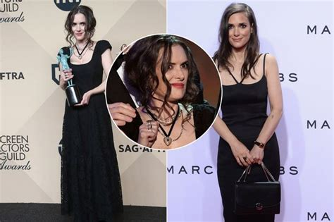 Winona Makes A Fashionable Comeback With Us Vogue by Screen Actors Guild Awards News Views Gossip