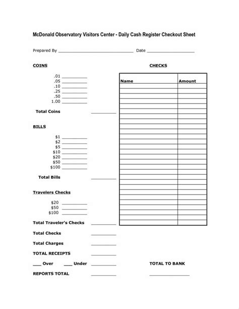 money count sheet template top money drawer count sheet with 34 pictures bodhum
