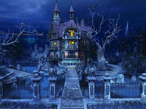 holidays  screensavers haunted house gorgeously