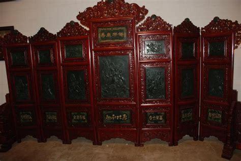 seven panel jade screen