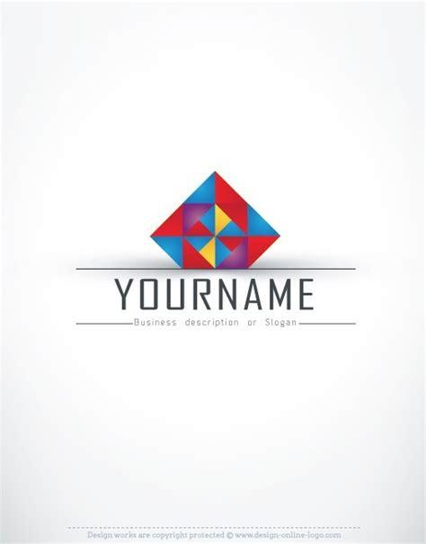 geometric pattern logos 3d colorful geometric logo