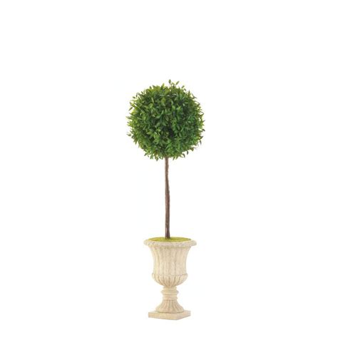 24 quot topiary in white planter wholesale at koehler home decor