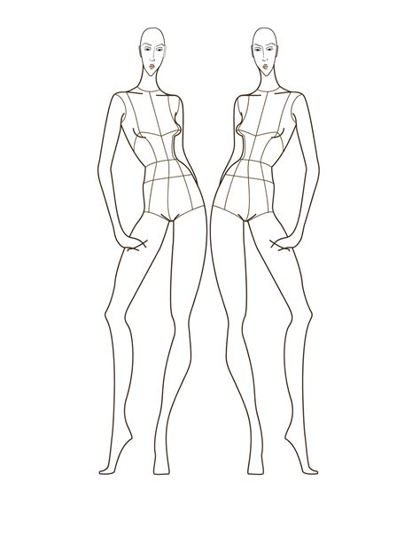 Fashion Figure Drawing Dyahtri N W Astuti the gallery for gt fashion figure templates back