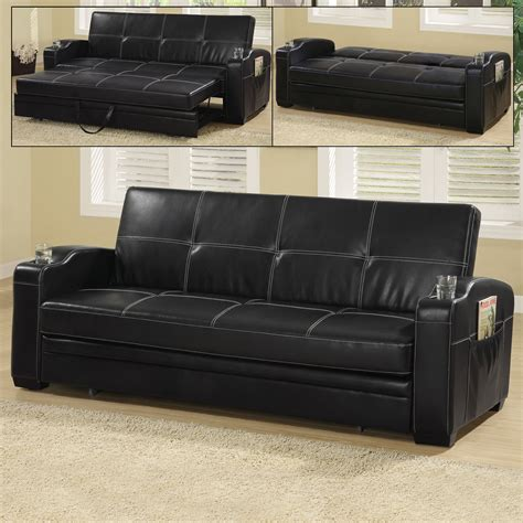 Vinyl Sofa by Coaster Furniture 300132 Vinyl Sofa Bed Atg Stores
