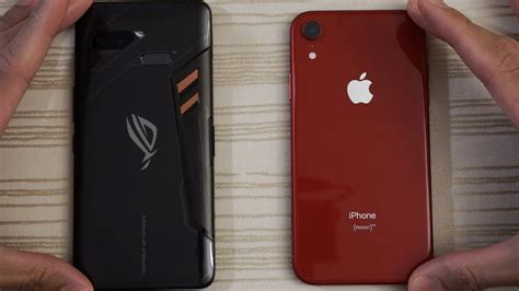 asus rog phone  iphone xr speed test youtube