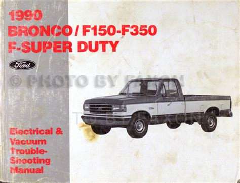 auto repair manual free download 1990 ford bronco ii spare parts catalogs 1990 ford pickup electrical troubleshooting manual bronco f150 f250 f350 truck ebay