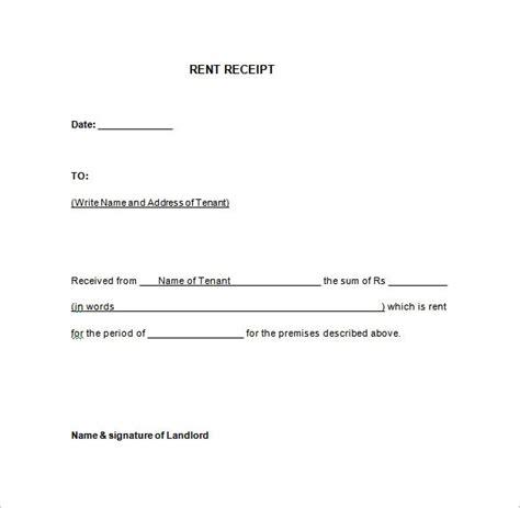 rent receipt template word sitezen co
