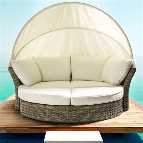 divano giardino rattan salpi divano da giardino in rattan sintetico con