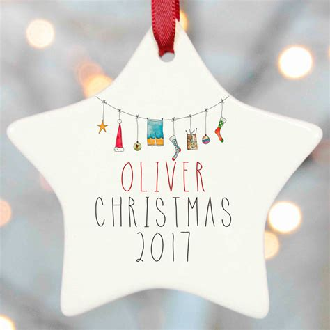 personalised decorations personalised tree decoration by christening