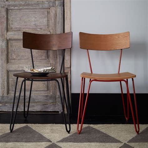 west elm dining room chairs hairpin leg dining chair west elm