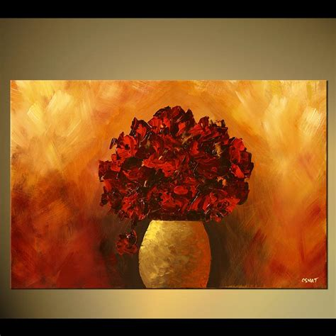 original abstract floral painting by osnat