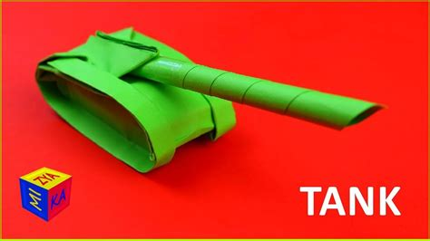 tutorial origami tank origami how to make a paper tank easy video tutorial for
