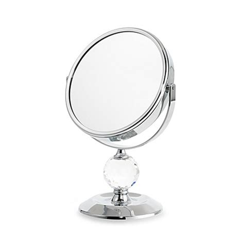 crystal bathroom mirror buy crystal ball 5 inch vanity mirror from bed bath beyond