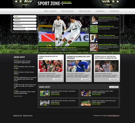 29 Sports Website Themes Templates Free Premium Templates Sports Website Templates