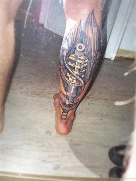 tattoo design on leg leg tattoos