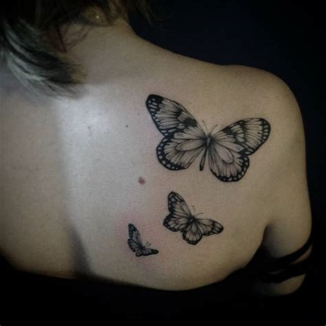 butterfly tattoo on shoulder shoulder blade tattoos designs ideas and meaning