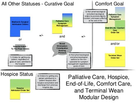end of life comfort measures consolidating improving and novel palliative care order