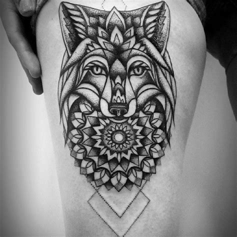 fox mandala best tattoo design ideas
